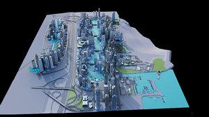 3D marina dubai model