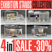 Exhibition Expo Stands Collection 4in1
