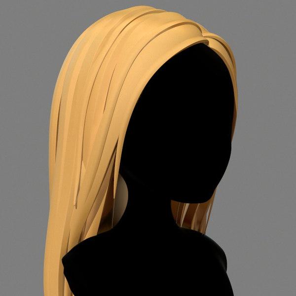 3D model character - cartoon girl