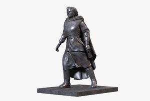 3D bronze sculpture nurse model