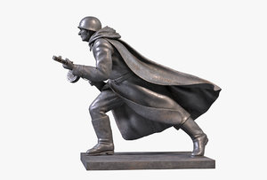 3D bronze sculpture soldier