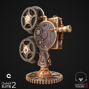 steampunk projector 3D