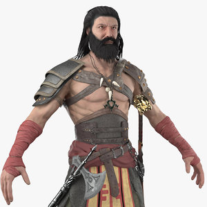 3D model pbr ancient warrior