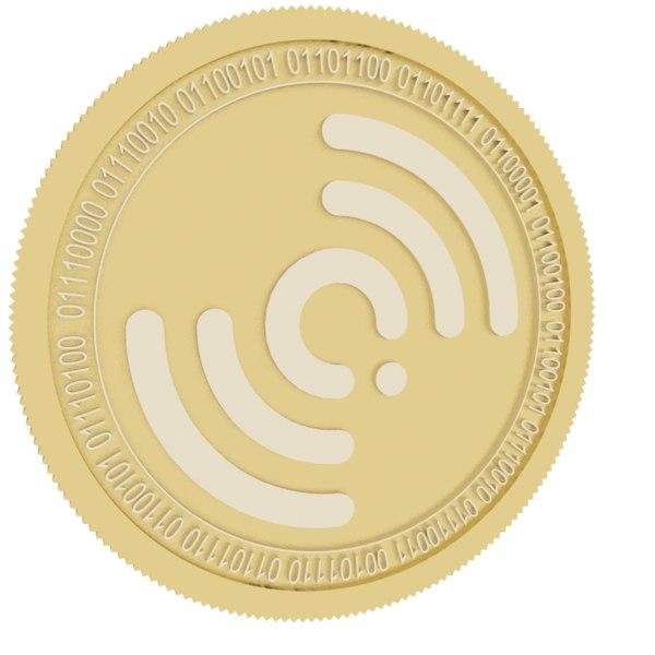 qlc chain gold coin 3D