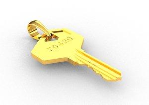 3D model pendant key jewelry