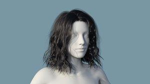 character hair 3D model