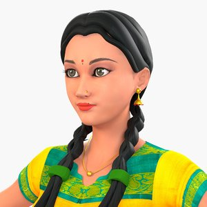character indian 3D