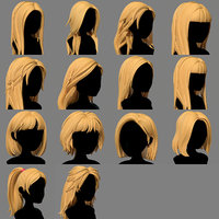 Character - Cartoon - Girl Hairs Collection