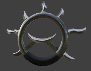 3D model wheel wind