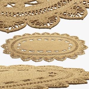 3D model safavieh farideh casual oval