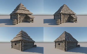 3D ready medieval europe house