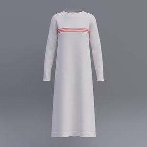 female shirt dress 3D model