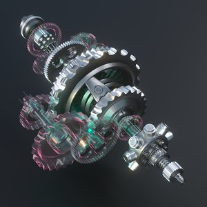 3D gears animation