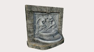 fountain relief 3D