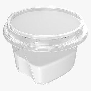 3D yoghurt plastic label model