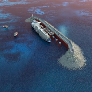 3D pier lng transshipment complex model