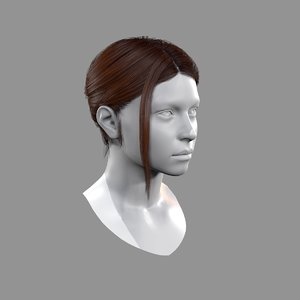realtime bun tail hairstyle 3D model
