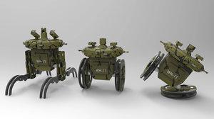 3D terrain combat robot
