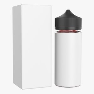 vapor liquid bottle 3D model