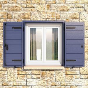 3D aluminium shutter exterior model
