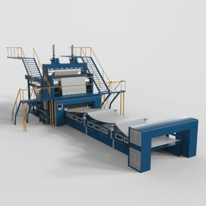 paper making equipment 3D model