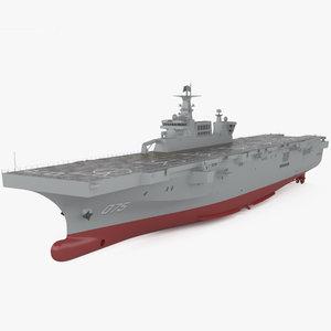 3D type 075 landing model