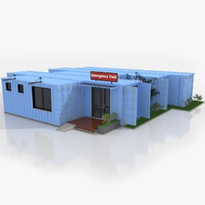 emergency unit shipping containers 3D model
