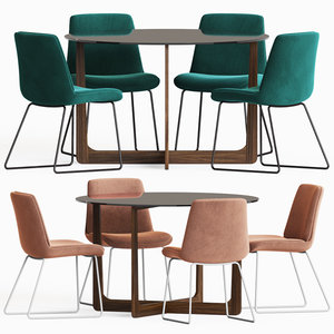 chase dining chair table 3D model