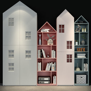 3D kids book shelf