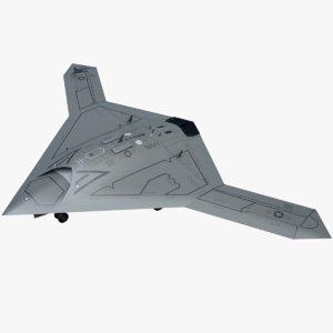 3D uav northrop grumman x-47b model