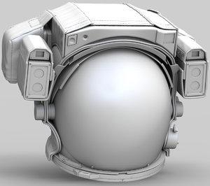 3D model nasa space helmet