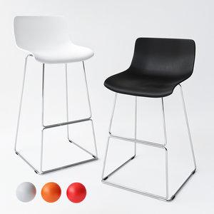 3D chair line bar stool