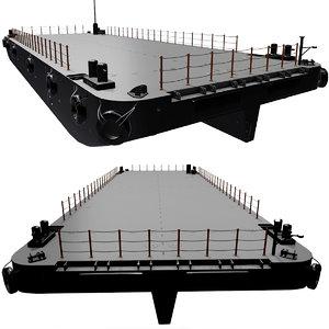 3D stan pontoons vessels barges