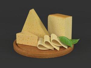 cheese set 3D model