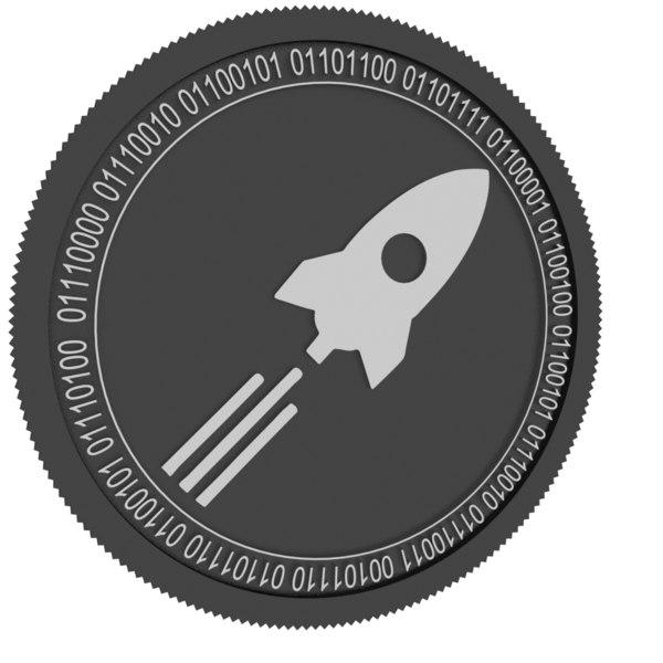 rocket pool black coin 3D