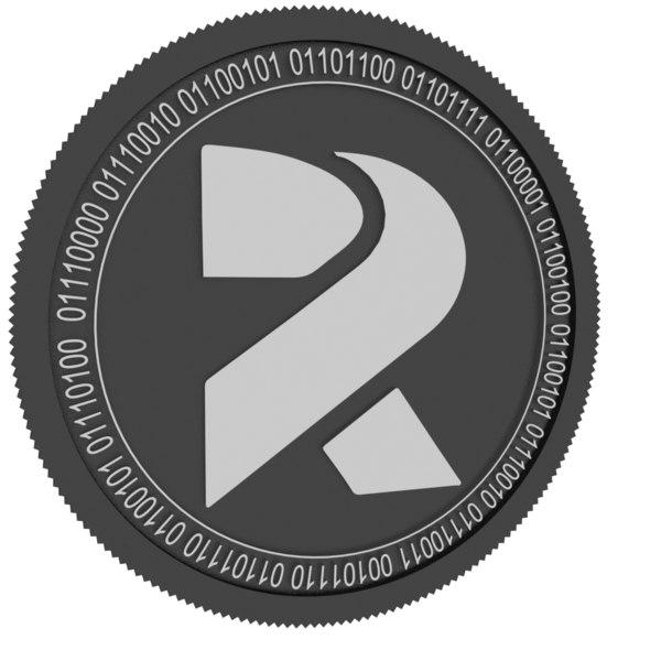 3D rotharium black coin model