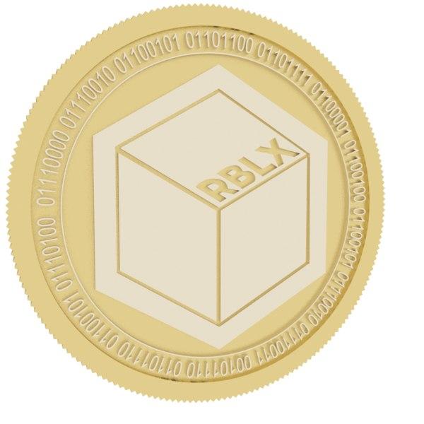 rublix gold coin 3D model