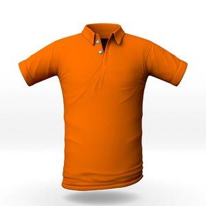 3D polo shirt model