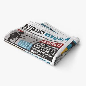 newspaper scenes 3D