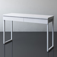 IKEA BESTA BURS Desk, high gloss white