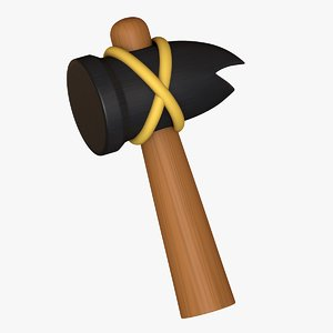 3D cartoon hammer asset model
