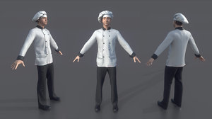3D chef food cooking model