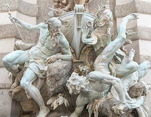 3D fountain monumen hd model