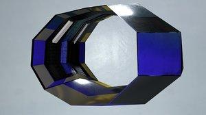 futuristic portal ring tunnel 3D model