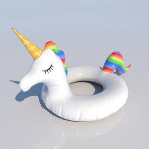 beach unicorn floater 3D