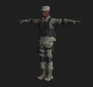 3D soldier rigge