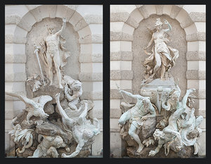 fountain monumen pack 2 3D
