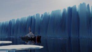 3D glacier blender model