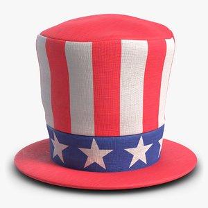 american patriot cylinder hat 3D
