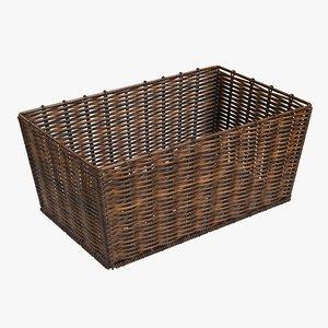 wicker basket brown model